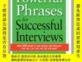 二手書博民逛書店Powerful罕見Phrases for Successful