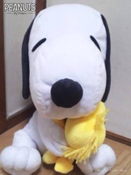 日本 SNOOPY 史努比&糊塗踏客 抱枕玩偶娃娃 35cm