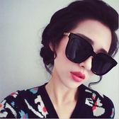 韓版網紅眼鏡2018夏季復古大臉顯瘦太陽鏡男女潮個性黑色圓臉墨鏡CY 酷男精品館