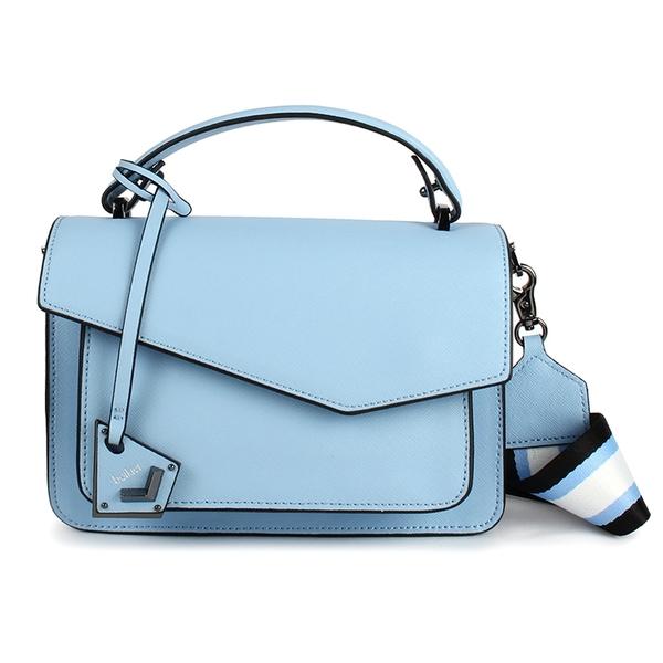 Botkier防刮皮革手提/斜背兩用風琴包(淺藍色)260001-12