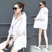 夏季2018新款女外套薄款韓版中長款大碼寬鬆休閒時尚防曬風衣服潮『潮流世家』