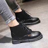 馬丁靴女新款秋冬英倫風厚底機車靴學生復古韓版百搭ins短靴 薔薇時尚