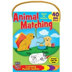 [KANGA GAMES]雙面拼圖 學習遊戲 - 動物配對 Learning Games - Animal Matching 40片