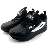 《7+1童鞋》FILA 魔鬼氈 休閒好搭  輕量舒適 運動鞋  4224   黑色