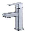 【麗室衛浴】不鏽鋼單孔面盆龍頭 (不鏽鋼)F-169