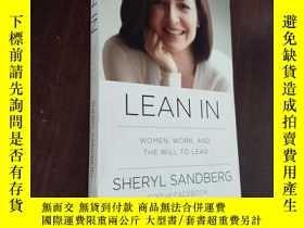 二手書博民逛書店Lean罕見In: Women, Work, and the Will to Lead 英文原版,有劃線Y12