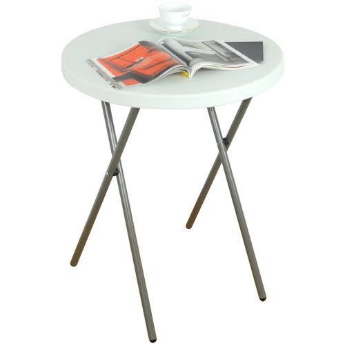 [家事達] 台灣DF 2尺塑鋼折合圓桌 促銷價