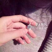 項鏈-韓國氣質方塊鋯石滿鉆鎖骨頸鏈 巴黎春天