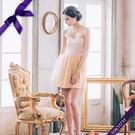 東京衣服 俏麗娃娃 心型領 珠光網紗裙襬洋裝小禮服 金