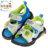 《布布童鞋》玩具總動員抱抱龍銀色兒童電燈涼鞋(15~19公分) [ B9K089Q ]