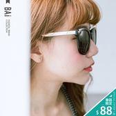 墨鏡 金屬風鏡架方型膠框太陽眼鏡(附眼鏡盒)-BAi白媽媽【150212】