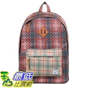 [美國直購] Woodlands Backpack Rust Plaid Polka Dot/Grey Plaid 背包 筆記本電腦背包