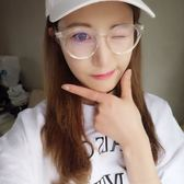 現貨-復古超輕近視眼鏡框女 全框眼鏡架 男韓版平光眼鏡潮圓形金屬大臉23