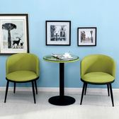 陽臺桌椅三件套會客接待洽談桌椅組合休閒靠背椅咖啡廳圓桌【帝一3C旗艦】IGO