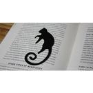 【收藏天地】創意小物*鋁合金質感書籤-孟買貓 (黑)/ 藏書夾 生活文具 禮品 文青