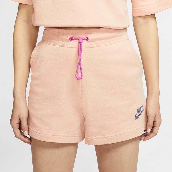 NIKE 短褲 NSW ICON CLASH 粉橘 抽繩 休閒 舒適 棉褲 短褲 女 (布魯克林) CJ2278-287