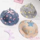 嬰兒帽 春夏寶寶漁夫帽男女童兒童盆帽愛心標帽百搭夏天嬰兒遮陽帽子