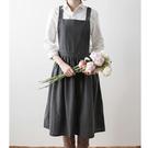 工作圍裙 棉麻 大人款棉麻圍裙 咖啡店 烘焙店 花店 飲料店 圍裙 廚房 餐廳