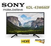 ※新品上市※SONY新力 43型FHD HDR液晶電視 KDL-43W660F 贈基本桌裝