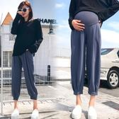 孕婦褲子夏裝薄款潮媽外穿夏天打底褲九分運動褲寬鬆休閒-BB奇趣屋
