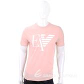 Emporio Armani EA 老鷹標誌粉色短袖T恤(男款) 1920692-05