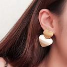 耳環.氣質簡約大小愛心耳環.白鳥麗子