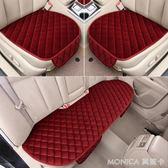 坐墊 汽車坐墊冬季毛絨無靠背防滑免綁車墊單片冬天保暖座墊用品 YXS 莫妮卡小屋