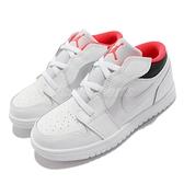 Nike 童鞋 Jordan 1 Low ALT TD 白 黑 紅 魔鬼氈 小童鞋 魔鬼氈【ACS】 CI3436-160