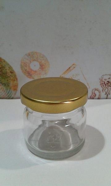 附金蓋 50cc 小圓瓶 雞精瓶【T002】果醬瓶 贈飲瓶 醬菜瓶瓶 玻璃瓶 玻璃罐 保羅瓶 蜂蜜罐