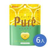 甘樂 Kanro 日本 Pure鮮果實檸檬軟糖-6入