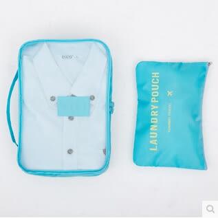 旅行整理收納袋六件套裝DL14302『黑色妹妹』