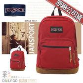 JANSPORT後背包包帆布包15吋筆電包大容量JS-43969-9FL聖誕紅