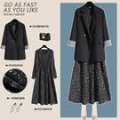 微胖MM西裝兩件套2020新款秋季大碼女裝洋氣遮肚減齡洋裝套裝 快速出貨