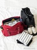 手提旅行包摺疊旅行袋女大容量登機防水行李袋可套拉桿包旅遊包男ATF  英賽爾3c專賣店