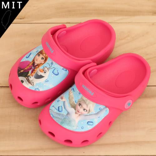 女童 冰雪奇緣 FROZEN 布希鞋 洞洞鞋 園丁鞋 拖鞋 MIT製造 正版售權 59鞋廊