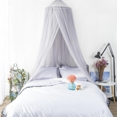 ins床幔北歐公主風吊頂帳篷床頭蚊帳掛兒童房紗帳少女心臥室裝飾