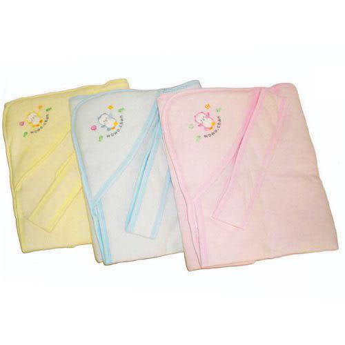 【奇買親子購物網】黃金海獺WOWOCHAN秋冬綁帶包巾(水藍/粉紅/黃)