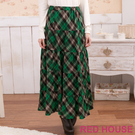 【RED HOUSE-蕾赫斯】菱格紋蛋糕長裙(綠色)