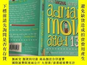 二手書博民逛書店The罕見secret diary of adrian mole aged :阿德裏安·摩爾的秘密日記Y200