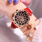 時來運轉手錶女星空網紅同款鑚學生防水時尚潮流女士 - 風尚3C