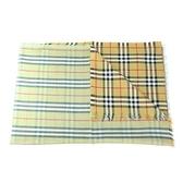 【南紡購物中心】BURBERRY Vintage 雙面格紋輕盈羊毛絲綢圍巾(粉綠)