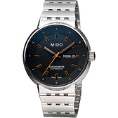 MIDO 美度 All Dial 羅馬競技系列特別版機械手錶-黑x橘時標/42mm M834041819