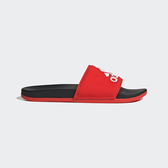 Adidas Adilette男女款紅色黑底大logo舒適拖鞋-NO.F34722