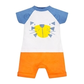 mothercare 白藍發呆獅短袖兔裝-熱帶雨林(M0PH411)03M~09M