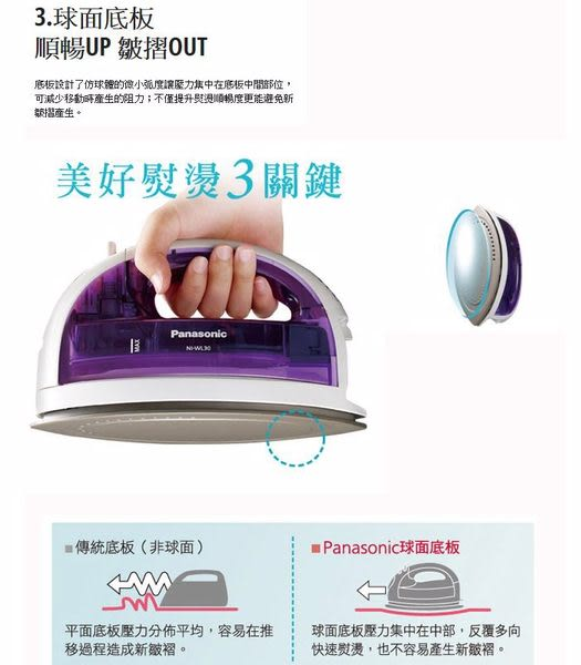 [輕鬆無線] 國際牌蒸氣熨斗 NI-WL30 ◢ 垂直整燙+蒸氣多檔調結