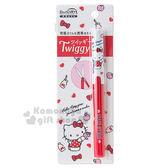 〔小禮堂〕Hello Kitty  攜帶式筆型剪刀《紅白.蘋果.蝴蝶結》附筆蓋 安全防止危險 4901610-42976