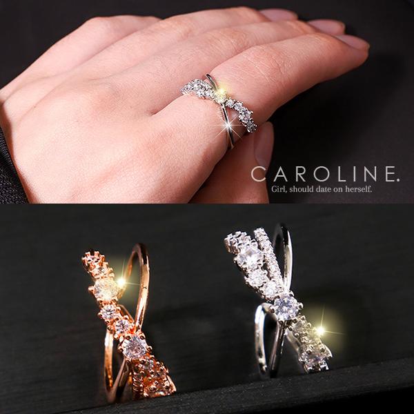 《Caroline》★韓國熱賣造型時尚  車工精美,珠寶級水晶戒指71223