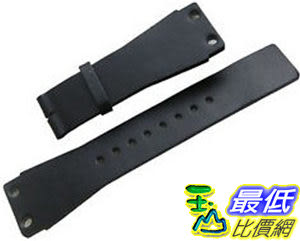 [104美國直購] 男錶 黑色皮革錶帶 Original CALVIN KLEIN Black Leather Watch Strap Band 25mm Men s New