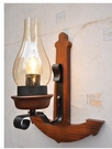 超實惠 歐式複古實木鐵藝地中海壁燈6329/1W(船錨壁燈 錨壁燈)