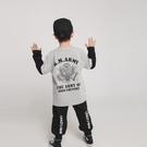 男童T恤 2021春季新款男童舒適打底衫兒童日系拼色假兩件長袖T恤【牛年大吉】